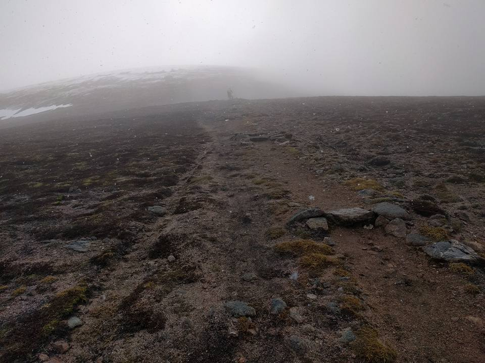 Steps on Carn Ban More path
